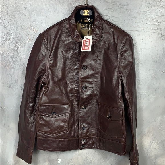 Levi S Jackets Coats Levis Vintage Menlo Cossack 93s Leather Jacket Poshmark